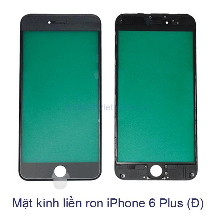 Mặt kính liền ron iPhone 6 Plus đen