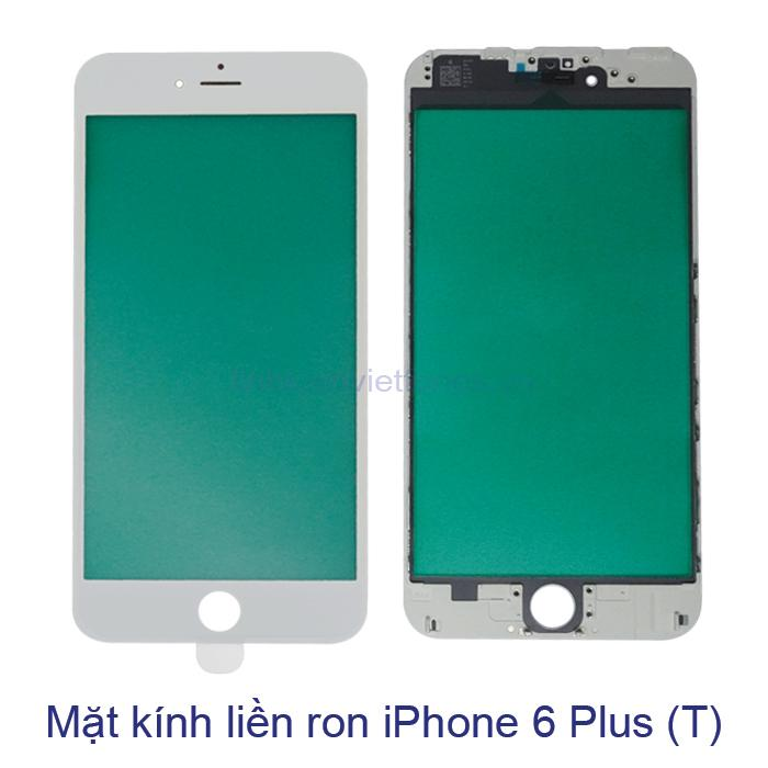 Mặt kính liền ron iPhone 6 Plus trắng