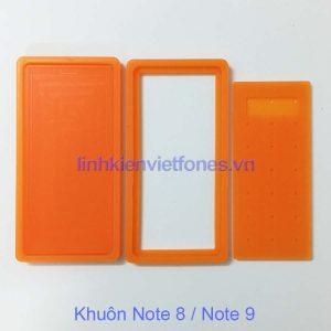 Khuôn silicon note8 trong Bộ khuôn ép 8 dòng mh cong nguyên khung, nguyên máy