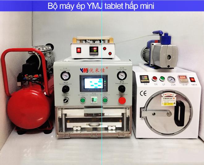 Chuyên bán máy ép kính chân không - bộ máy ép YMJ & tablet hấp trung