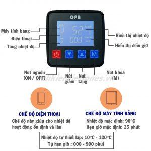 Thảm lót chỉnh nhiệt CPB 320 TO